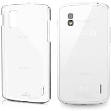 Custodia Cover Anukku® Ultra Fina Trasparente Morbida In Air Gel Per Lg Nexus 4 + Pellicola
