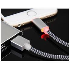 SMART-LI-LED, USB A, Lightning, Maschio / maschio, Dritto, Dritto, Nero, Argento