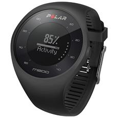 Sportwatch M200 Running Watch con GPS e frequenza cardiaca dal polso - Nero