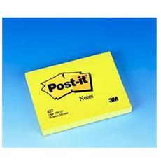 confezione da 12 pezzi - blocco 100fg post-it®giallo canary 76x102mm 657