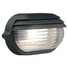 Plafoniera nera esterno vetro trasparente attacco a soffito parete E27