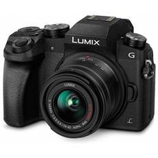 """Lumix DMC-G7 Nero Kit 14-42mm f 3.5-5.6 Sensore Live MOS 16 Mpx Display 3"""" Touch Filmati Ultra HD 4K PostFocus Wi-Fi"""