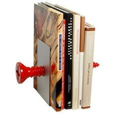 'Ferma libri vite'' Articolo in resina lavorata a mano da artigiani italiani Misure cm 20 x 12 x 20 Colore rosso lucido