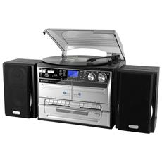 Sistema Micro Hi-Fi MCD 4500 USB Lettore CD / Giradischi / Musicassette Supporto MP3 Potenza Totale 40Watt USB Slot SD