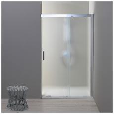 Porta nicchia doccia 120 cm modello dream anta fissa a destra Cristallo opaco