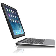 Slim book Bluetooth Nero, Argento tastiera per dispositivo mobile