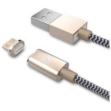 SMART-MU-MAG, USB A, Micro-USB B, Maschio / maschio, Dritto, Dritto, Nero, Oro, Bianco