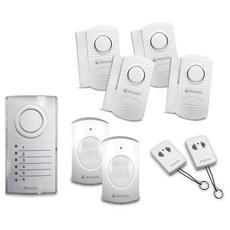 Kit Allarme Senza Fili A09-VA-E200-Kit 1 Centralina Di Allarme + 4 Sensori di Apertura + 2 Sensori di Movimento + 2 Telecomandi