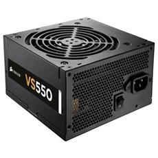 Alimentatore 550 Watt Serie VS Cablato ATX 2.2V Certificazione 80 Plus