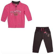 Tuta Bimba Infant Girl Full Zip 86 Rosa Grigio