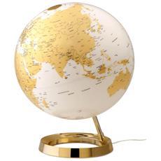 Mappamondo Luminoso L&c Metal Gold, Oro