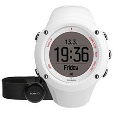 Ambit3 Run White Hr L'orologio Gps Pensato Per Runner, Con Monitoraggio Della Frequenza Cardiaca Connessione Mobile, Appositamente Progettato Per La Donna