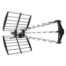 ANT-UHF52L-KN Antenna UHF, DVB-T, Nero, Argento, 1,515 kg