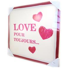 canvas 'love' red ecru (40x40 cm) - [ m2197]