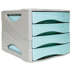 Cassettiera Keep Colour Pastel Azzurro Arda
