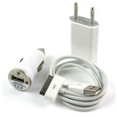 IPW-USB-KIT - Kit alimentazione casa auto per iPhone 3G / 3GS / 4G