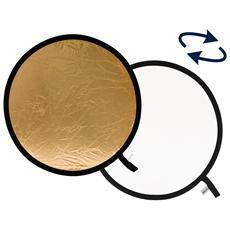 Pannello circolare Oro / Bianco Ø 120 cm