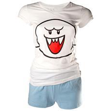 Nintendo - Shortama White / Blue Boo (Pigiama Donna Tg. S)