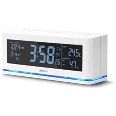 Rsb0723 Radio Sveglia Digitale Fm Allarme Display Grande Sensore Temper.