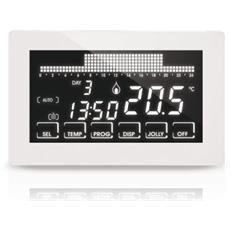 Crontermostato Ultrapiatto Touch-screen Settimanale A 230v Bianco - Ch193b