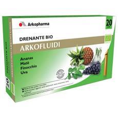 Arkofluidi Drenante Bio Integratore Alimentare 20 Flaconi Monodose