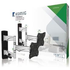 KNMA-SFM30S, 75 x 75 mm, Nero, Argento, 8 - -12°, Alluminio, Acciaio