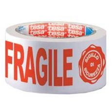 nastro adesivo ppl 66mtx50mm fragile con sigillo sicurezza 7024 tesa