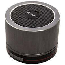 Speaker Audio Portatile 44404 Potenza 3 W Bluetooth - Grigio / Nero