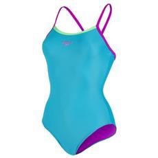 Costume Donna Thinstrap Muscleback Azzurro 32