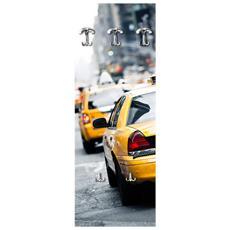 Appendiabiti Da Parete 49x139 Cm Taxi A New York