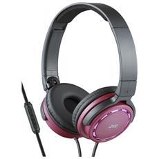 HA-SR525-R, Stereofonico, Padiglione auricolare, Rosa, Nero, Cablato, Sovraurale, 10 - 25000 Hz