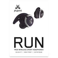 Run Auricolare Stereofonico Senza fili Nero auricolare per telefono cellulare