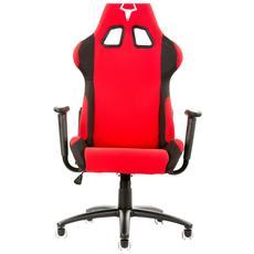 Sedia Gaming Taurus S1 in Tessuto con Doppio Cuscino - Nero / Rosso