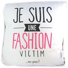 cuscino creatore 'citations' white rose (io sono una fashion victim o meno) - 40 cm - [ n5136]