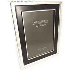 cornici portafoto 'design' nero cromo (13x18 cm) - [ l1509]