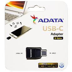 ACAF3PL-ADP-RBK, USB C, USB 3.1 A, Maschio / femmina, Nero, Plastica