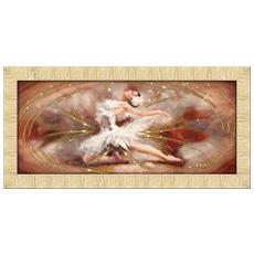 Quadro Su Tela Prince 65x135 Cm Dancing Butterfly Brown Gold