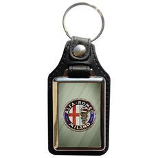 Portachiavi In Eco Pelle Alfa Romeo (3° Versione)