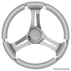 Volante B inox / grigio 350 mm