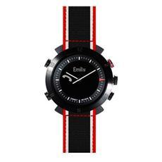 Smartwatch Classic in Nylon Impermeabile Bluetooth per Android e iOS Nero - Italia