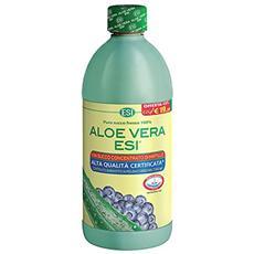 Aloe vera 1000 ml succo puro fresco 100% e concentrato mirtillo