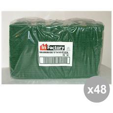 Set 48 Fibra Verde X 3 Pezzi Art. 0238 Attrezzi Pulizie