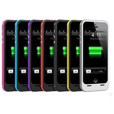 Case Con Batteria Esterna Ricaricabile 2200mah Per Iphone 5 Bianco