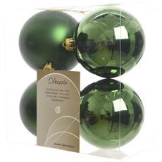 4 Palline Di Natale Verde Pino 10cm Albero Di Natale Addobbi Decorazioni