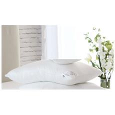 Givi' Lulu' Guanciale Cuscino Luxury Silver Cotone Percalle 200 Fili Bianco (65x65 Da Arredamento)