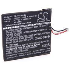 Litio-polimeri Batteria 3600mah (3.7v) Per Console Di Gioco Nintendo Switch, Hac-001, Hac-s-jp / eu-c0