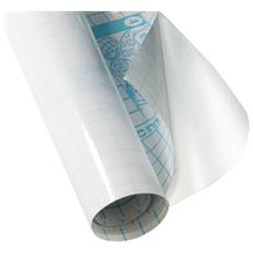Rotolo Coprilibro Adesivo in Polipropilene Liscio Trasparente 45cm x 2m