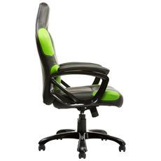 Gaming Chair Taurus P1 - Pelle Sintetica Pu, Nero Verde