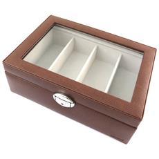 occhiali boxed 'maestro' marrone (4 bicchieri) - [ n4500]