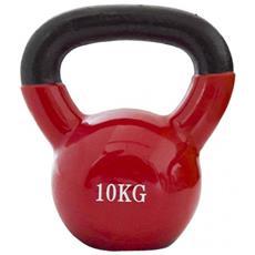 Peso Palestra Kettlebell Neoprene Rosso Allenamento Fitness Spalle Casa 10kg